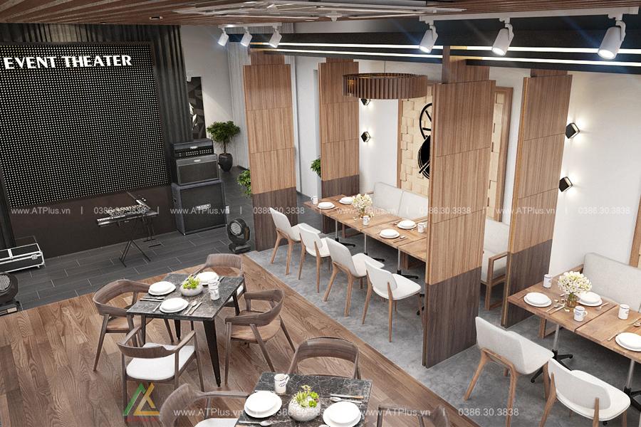 Không gian nội thất nhà hàng ấn tượng
