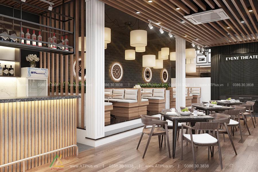 Nội thất nhà hàng được bố trí đẹp mắt