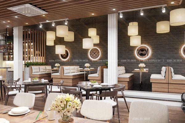 thiết kế nội thất nhà hàng hiện đại tại Ninh Bình