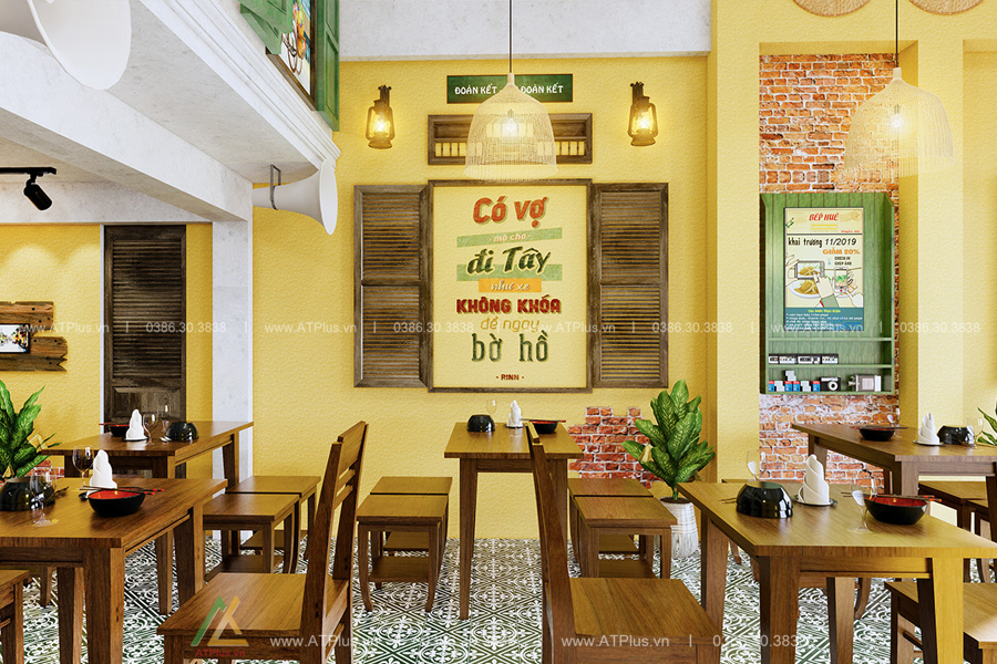 thiết kế thi công nội thất nhà hàng tại Ninh Bình
