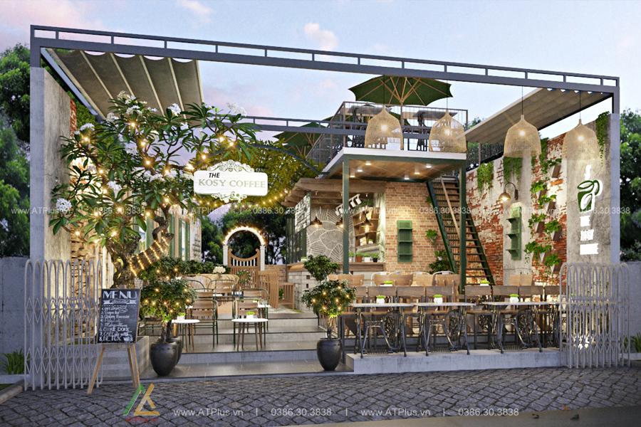 thiết kế thi công nội thất quán cafe tại Nam Định